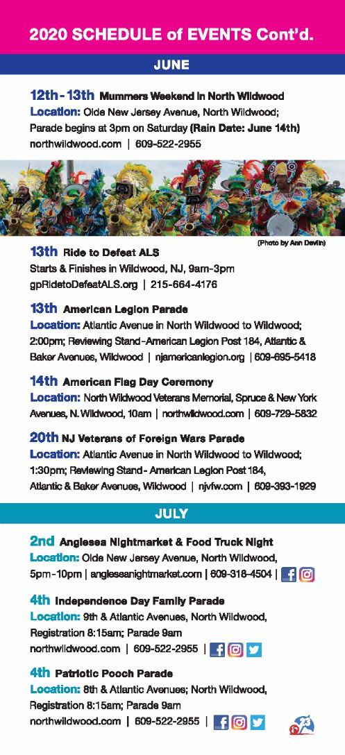Wildwood Nj Calendar Of Events 2021 2020 City of North Wildwood Information Guide   City of North